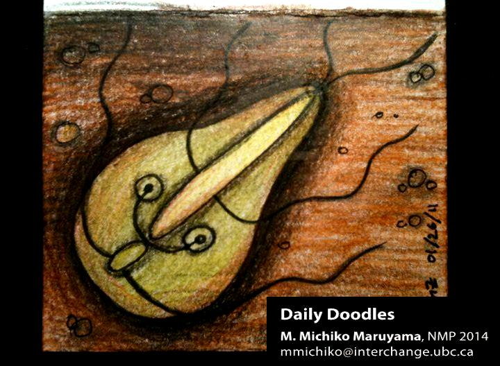 Giardia Medical Daily Doodle by Michiko Maruyama