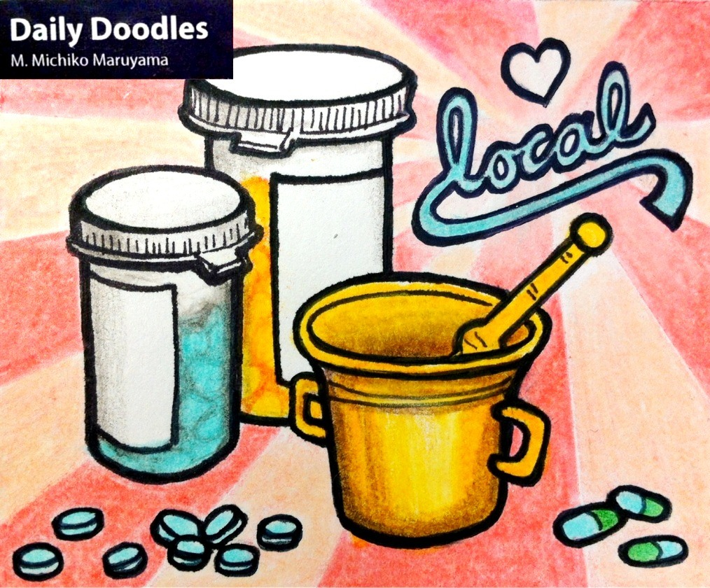 Support Local Pharmacy Daily Doodle by Michiko Maruyama