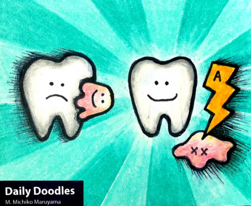 Tooth Ache Medical Daily Doodle by Michiko Maruyama