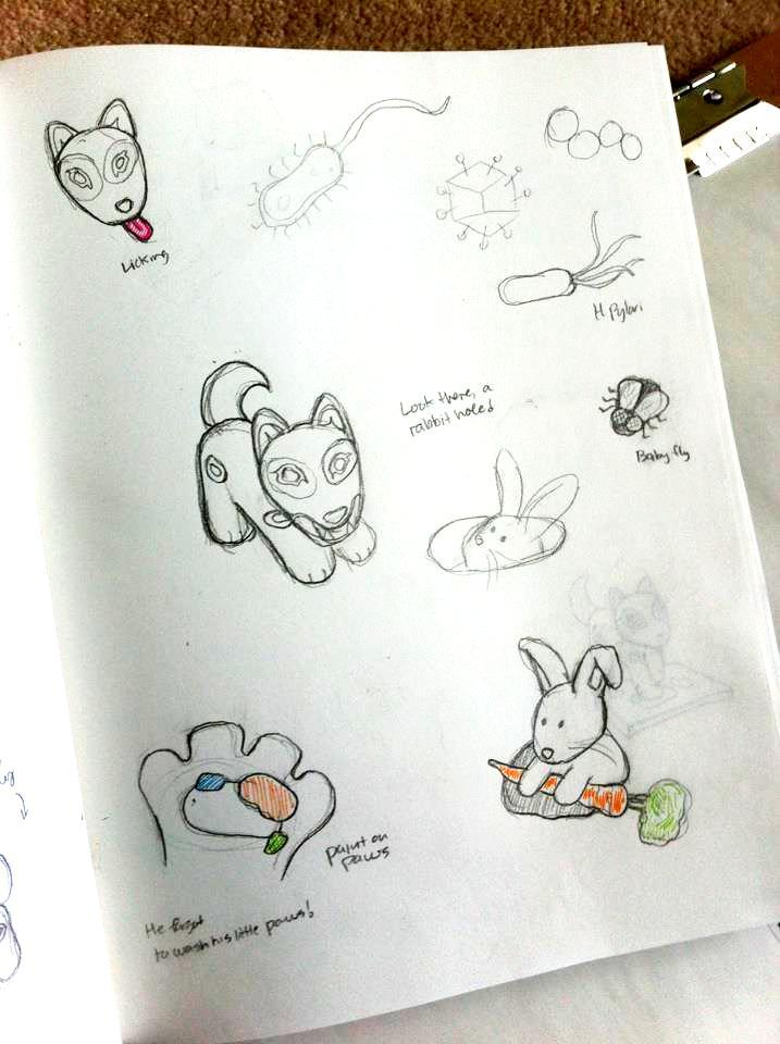 Jaida Sketches by Michiko Maruyama