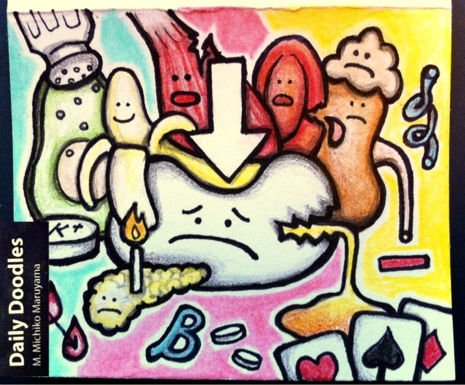Hyperkalemia Medical Doodle by Michiko Maruyama