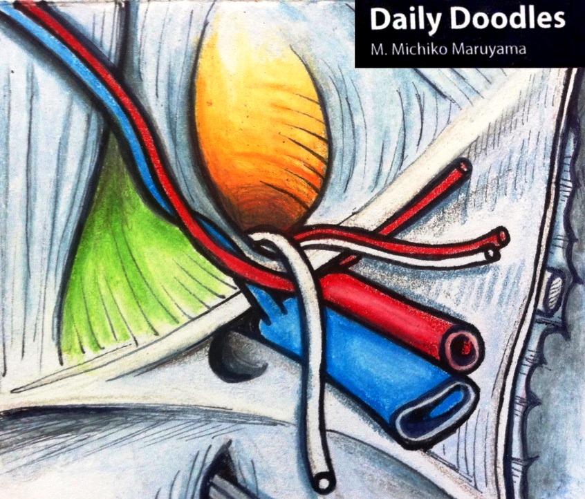 Inguinal Hernia Daily Doodle by Michiko Maruyama