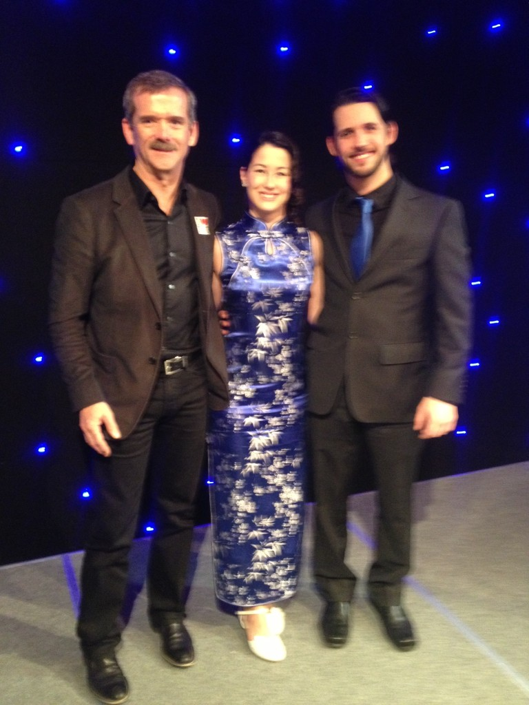 Col. Chris Hadfield, Michiko Maruyama, Blake Fillion at Bob Ewert Dinner