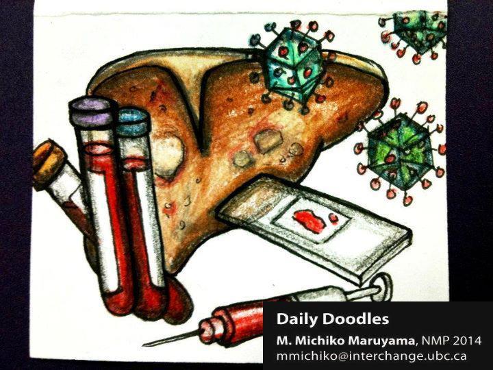 Hepatitis Daily Doodle by Michiko Maruyama